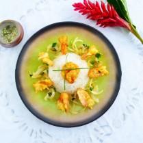 Crevettes poivre&sel - Vue de dessus