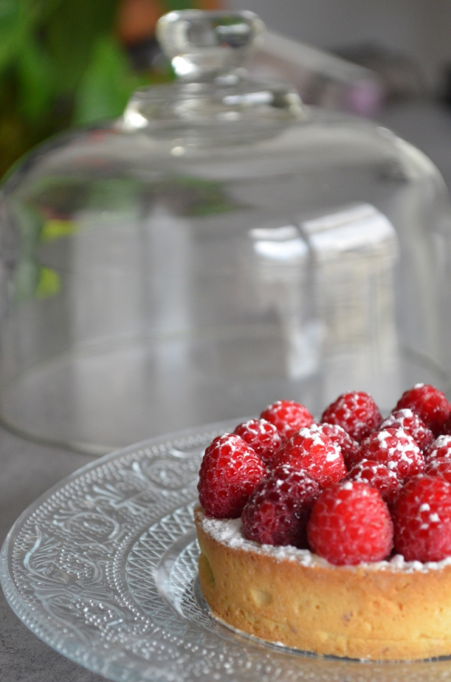 Tartelette chocolat blanc amande et framboise Blog