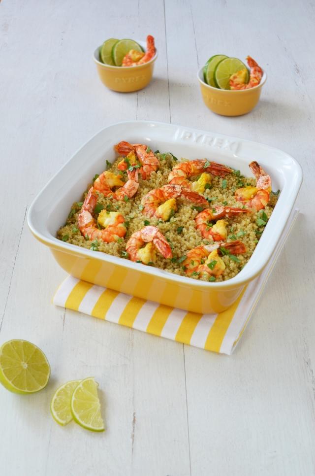 Crevettes et quinoa