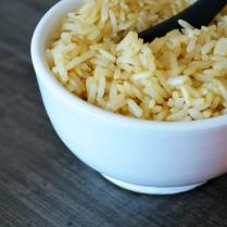 Zoom riz complet au coco