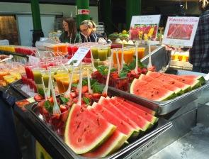 Stand de jus de fruits frais