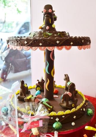 Carrousel en chocolat