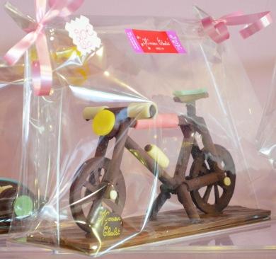 Vélo en chocolat