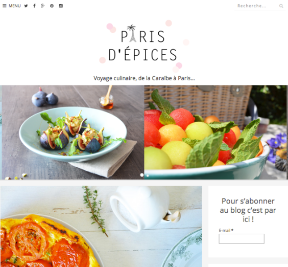 Nouveau blog Paris d'épices